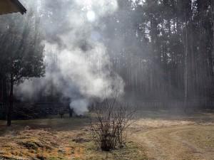 Zapach wiosennego dymu